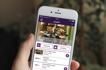 Simpli TV i Phone startscreen bitsfabrik