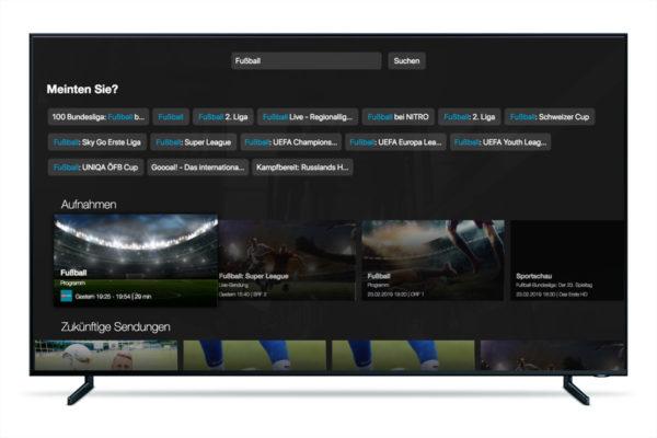 Bitsfabrik Smart TV Drei TV Suche
